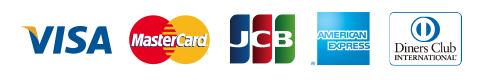 VISA,MasterCard,JCB,AMERICAN,EXPRESS,Dinners Club